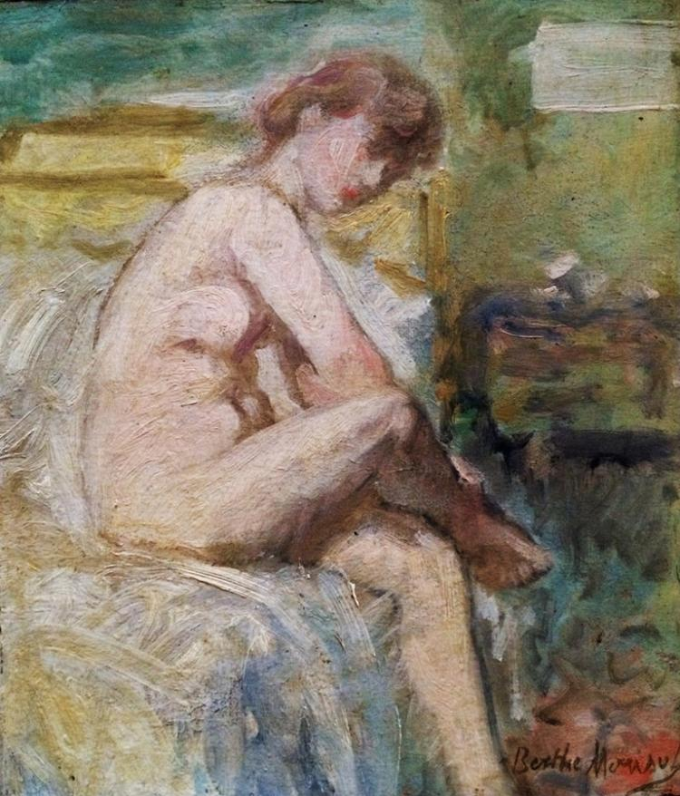 Berthe Morisot Original oil on canvas. (1800s)