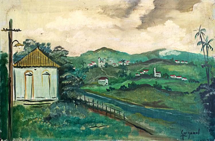 Alberto da Veiga Guinard Original Oil on wood 37 x 24 cm