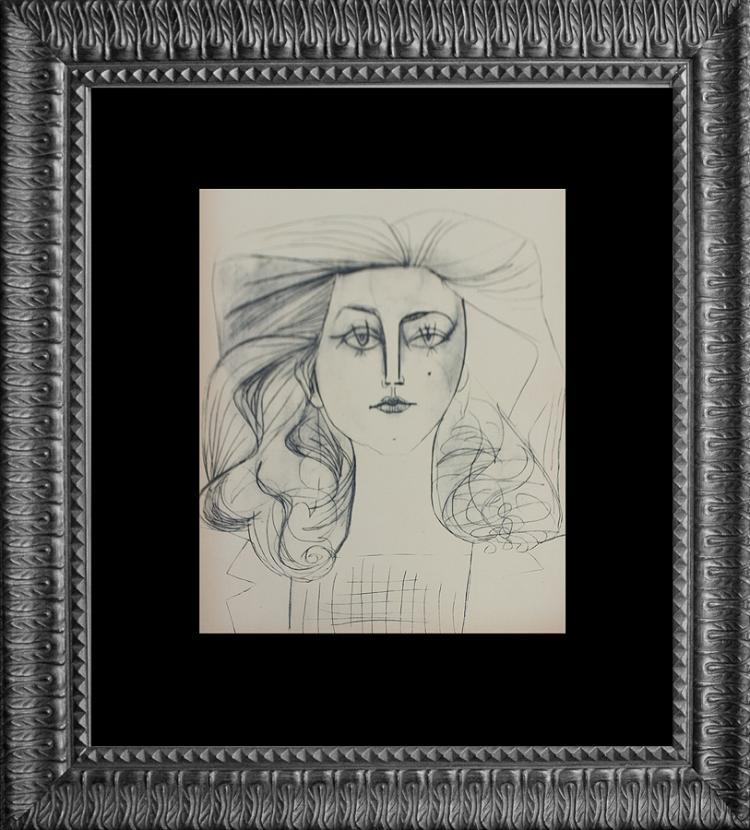 Pablo Picasso over 60 years ago original lithograph from La Guerre et la Paix from France