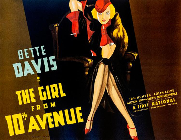 Bette Davis The Girl from 10th Ave. Original Lithograph