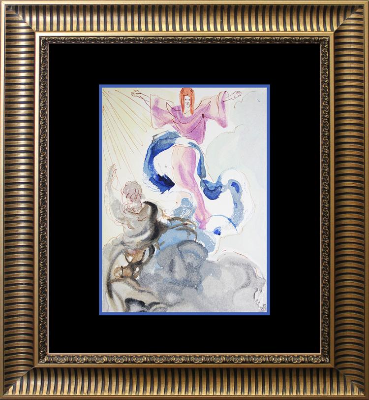 Salvador Dali Original Wood Block Divine Comedy from 1960