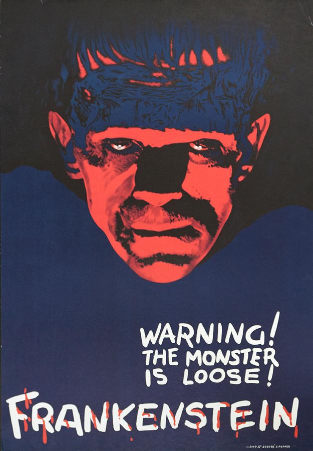 Frankenstein Original Lithograph circa 1970