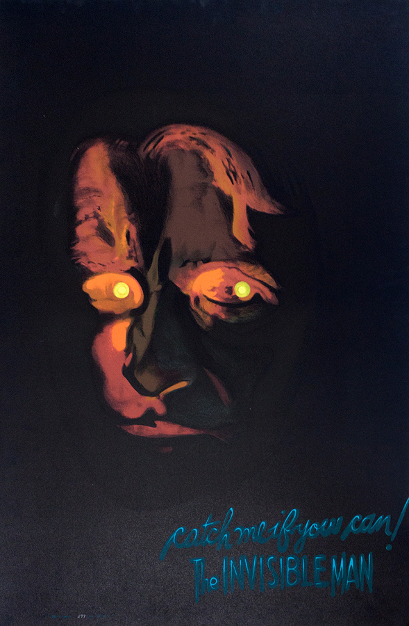 The Invisible Man Original Lithograph circa 1970