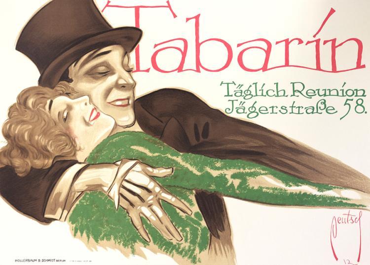 Tabarin Original Lithograph circa 1970