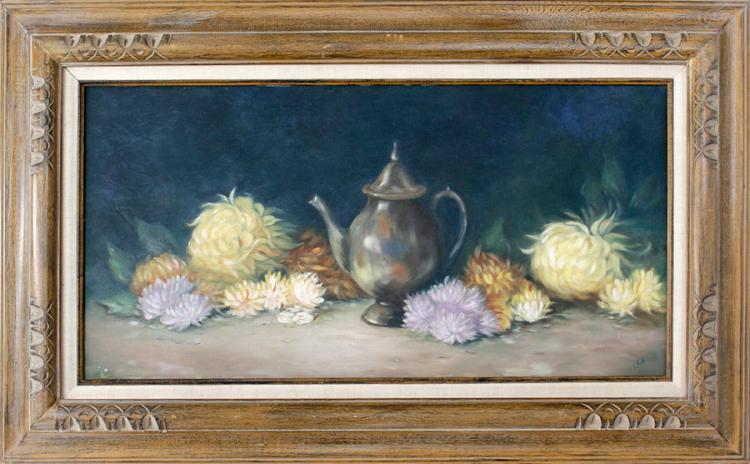 Original oil Stilllife on canvas by Fox
