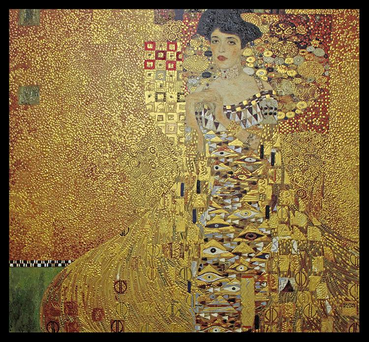 Limited Edition Gustav Klimt Hand Embellished Giclee on canvas