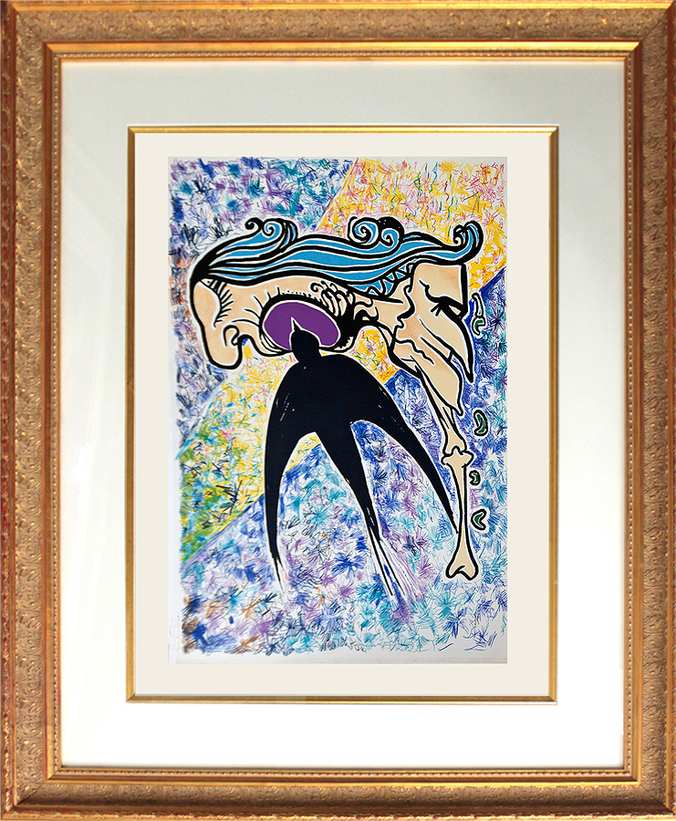 Salvador Dali Les Vitraux Suite The Swallow Original Lithograph from 1976 Limited Edition