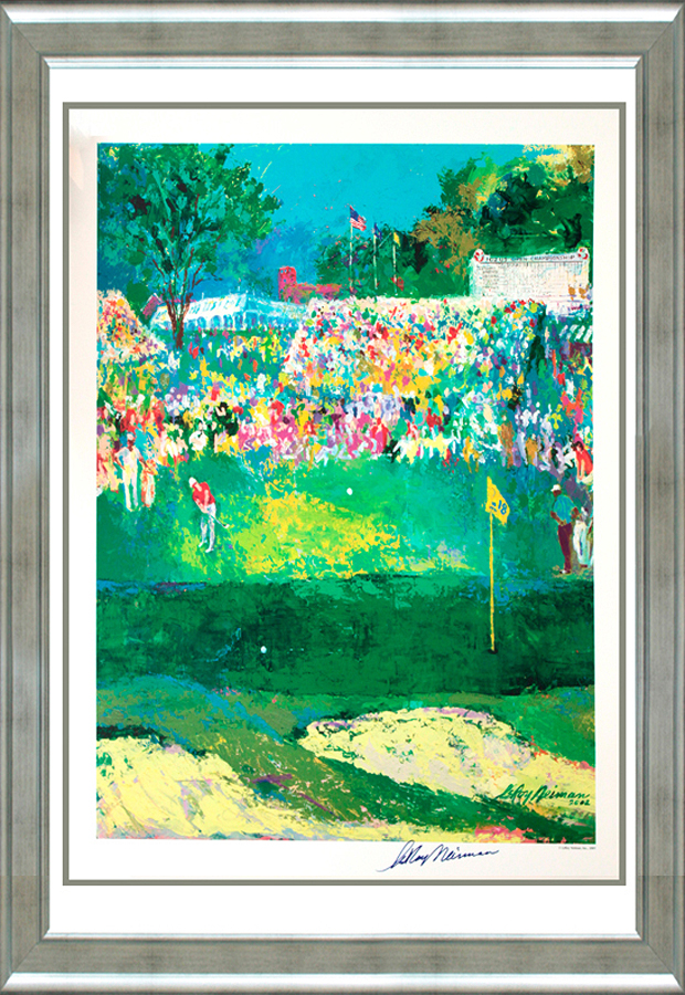 Le Roy Neiman US Open Golf Lithograph Hand signed