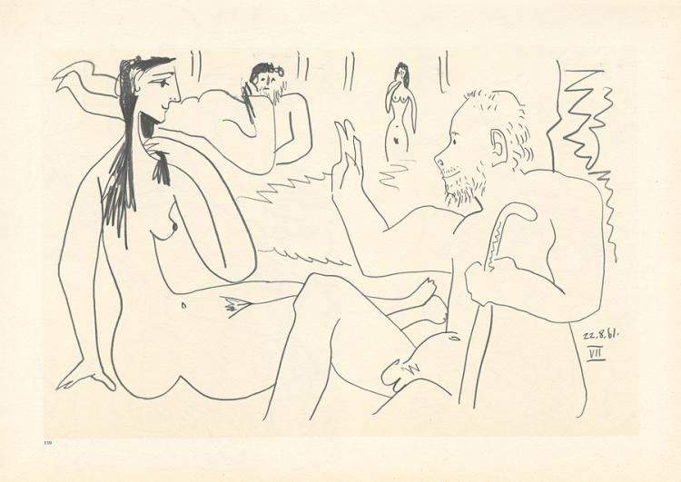 Pablo Picasso lithograph over 50 years ago
