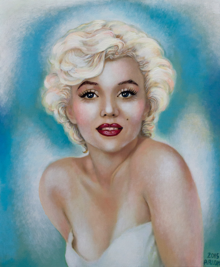 Original on canvas by Katherine Arion Marilyn Monroe