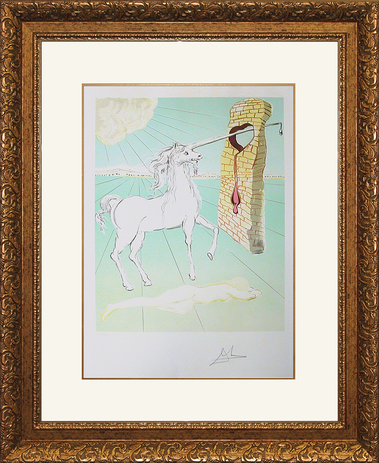 Salvador Dali Limited Edition Lithograph - Love