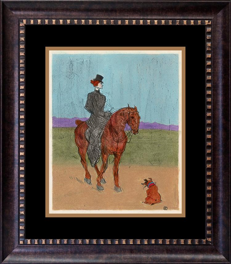 Toulouse Lautrec hand colored lithograph over 60 years old
