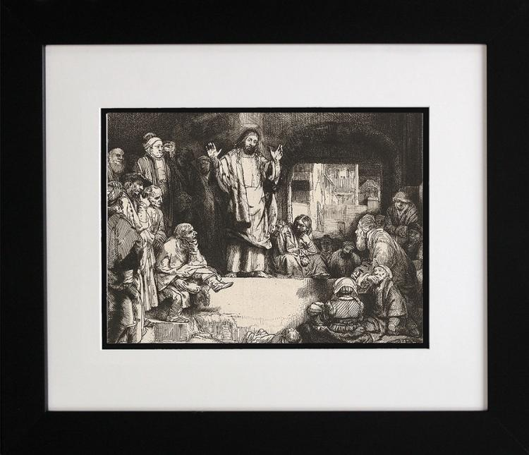 Rembrandt-Durand Etching From Original Plates Christ Preaching
