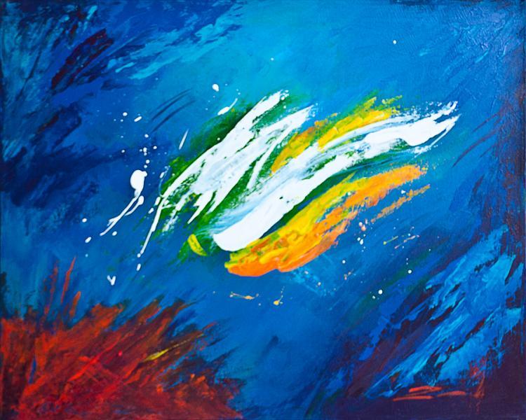 Zinovy Splash Original Acrylic on canvas Abstract
