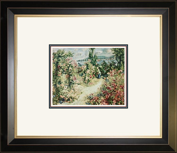 Renoir color plate lithograph over 50 years old