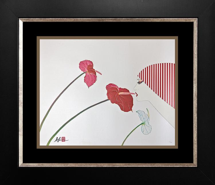 Limited Edition Serigraph by Hisashi Otsuka Kiss of Aloha