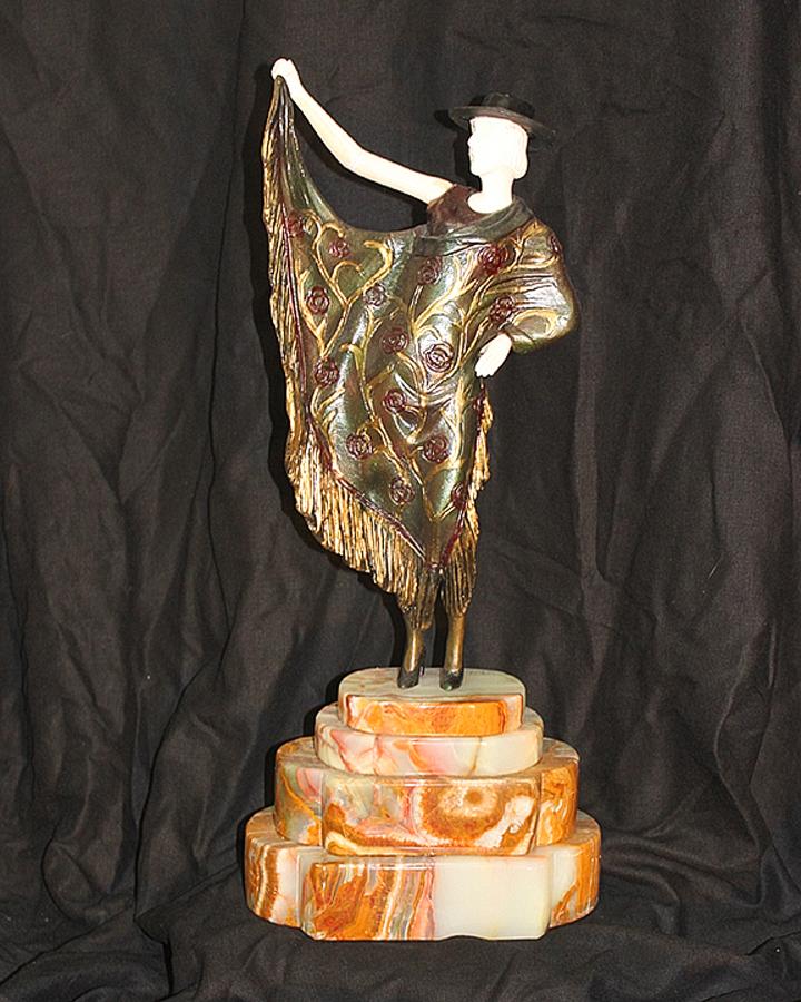 Chiparus Argentinian Dancer Bronze Sculpture