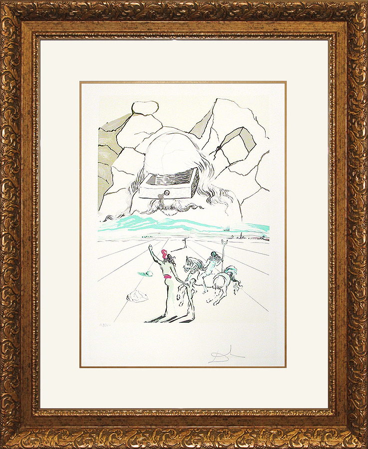 Salvador Dali Limited Edition Lithograph Path to Wisdom