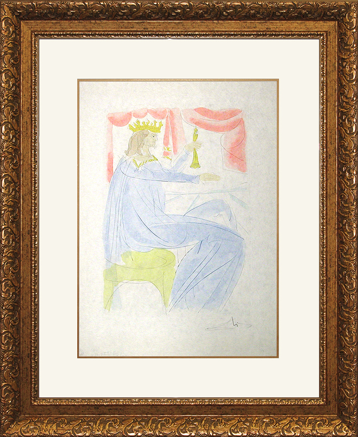 Salvador Dali Limited Edition Lithograph King Solomon Historical Heritage Suite on Japon paper
