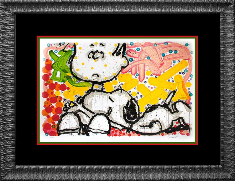 Snoopy by Tom Everhart Original Lithograph Limited Edition Super Sneaky