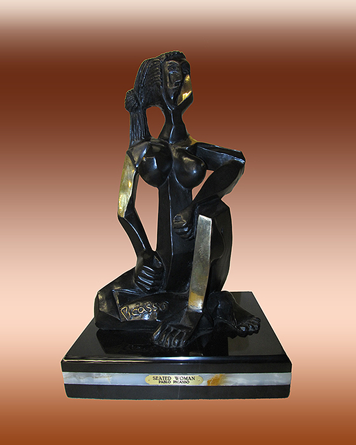 Sitting Woman Pablo Picasso Limited Edition Bronze Sculpture