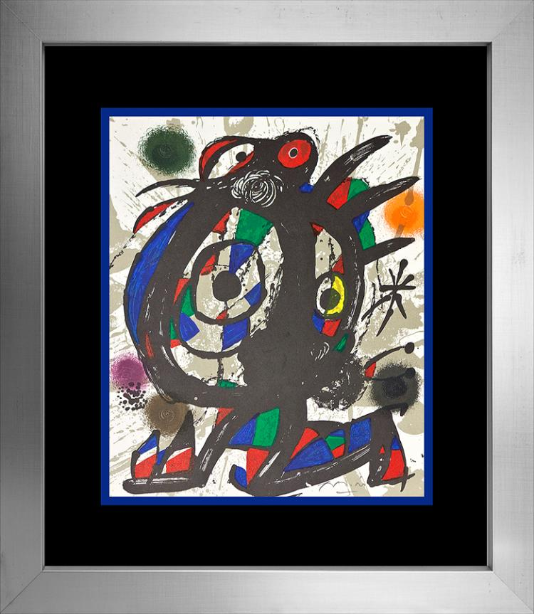 Joan Miro Original Lithograph hand signed by the artist.