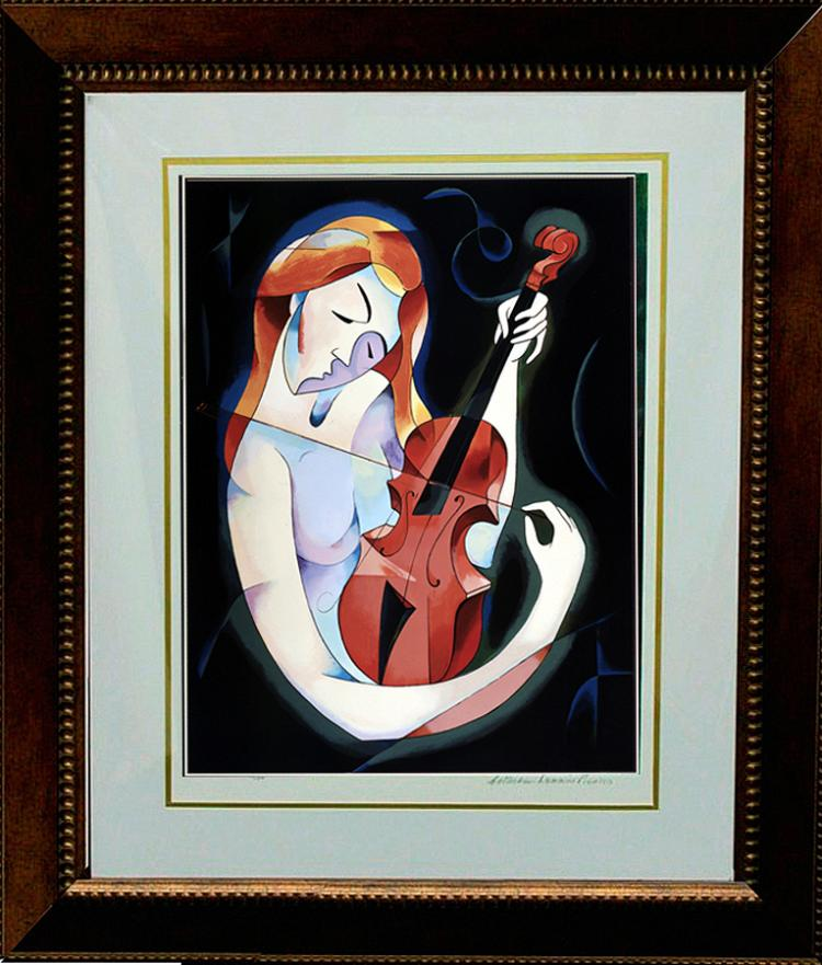 Zinovy Shersher Limited Serigraph The Muse
