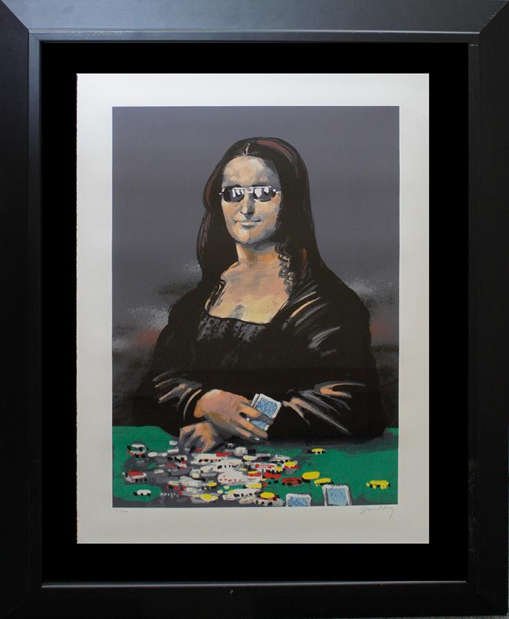 Wladamir Swierzy Original Lithograph Mona Lisa Poker Face