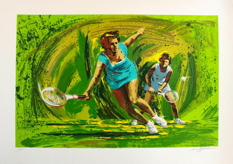 Harry Schaare Billie Jean King Tennis Players Hand signed Serigraph Limited Edition