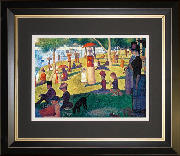 After Georges Seurat-A Sunday Afternoon on the Island