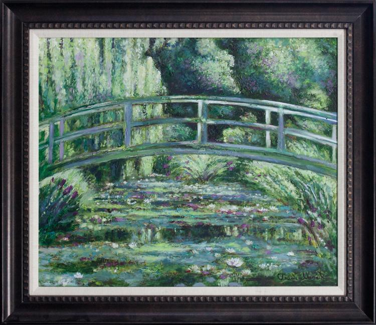 Claude Monet Japanese Bridge limited edition canvas