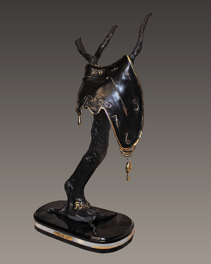 Salvador Dali Tearful Soft Watch Bronze Sculpture