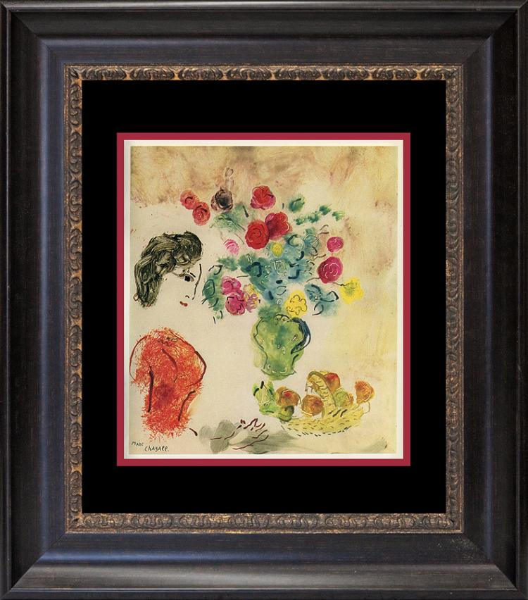 Marc Chagall color plate lithograph from 1970