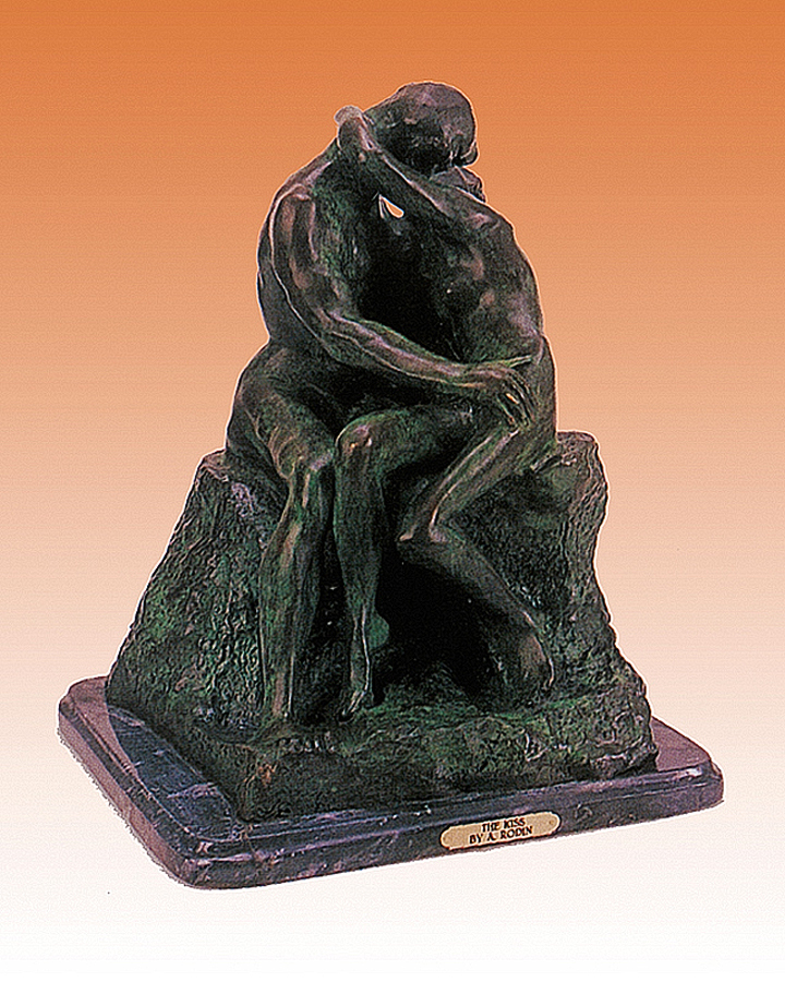 The Kiss after Auguste Rodin Bronze Sculpture