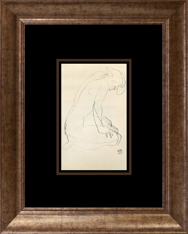 Rodin Lithograph from 1966 Paris