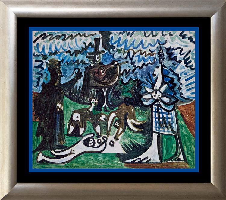 Picasso lithoraph from 1963 France Les dejeuner