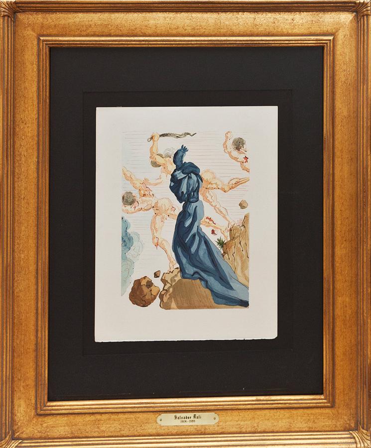 Salvador Dali Lithograph Divine Comedy