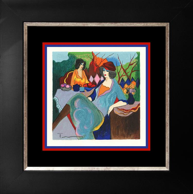 Tarkay Limited Edition Serigraph Blue Mood