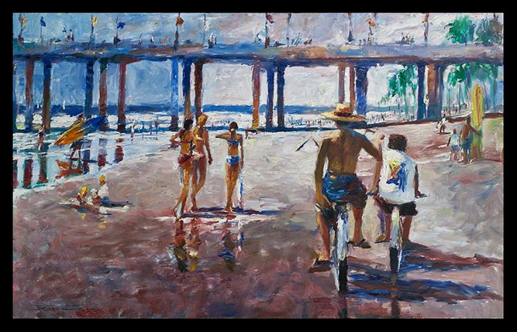 Original Oil by Jorn Fox Jazz
