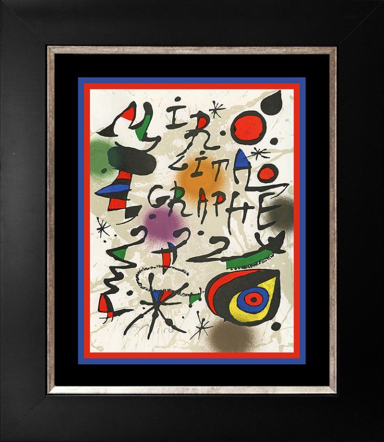Joan Miro  Lithograph from 1968 Hand signed
