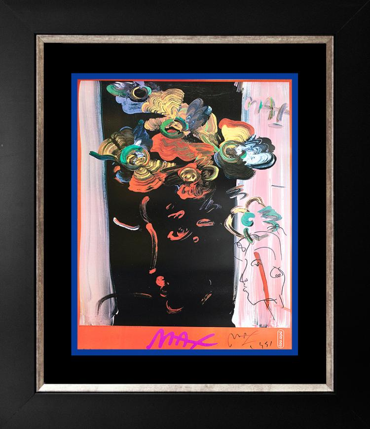 Peter Max 1991 Mixed Media on paper