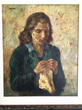Marie Mela Muter  Original Oil on wood panel.  20x17 inches