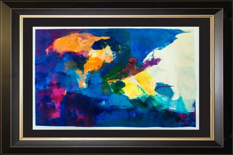 Original Oil Monoprint each piece is unique by Michael Schofield