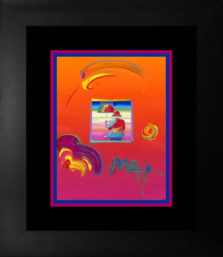 Peter Max Original Mixed Media on paper