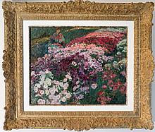 Childe Hassam Original Oil Hand signed by the artist.  18x14 inches image size and 27x23 inches framed size.