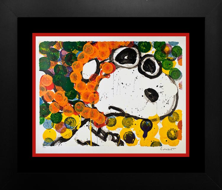 Snoopy by Tom Everhart Original Lithograph Limited Edition