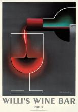 French Poster-Giclee-Willies Wine Bar