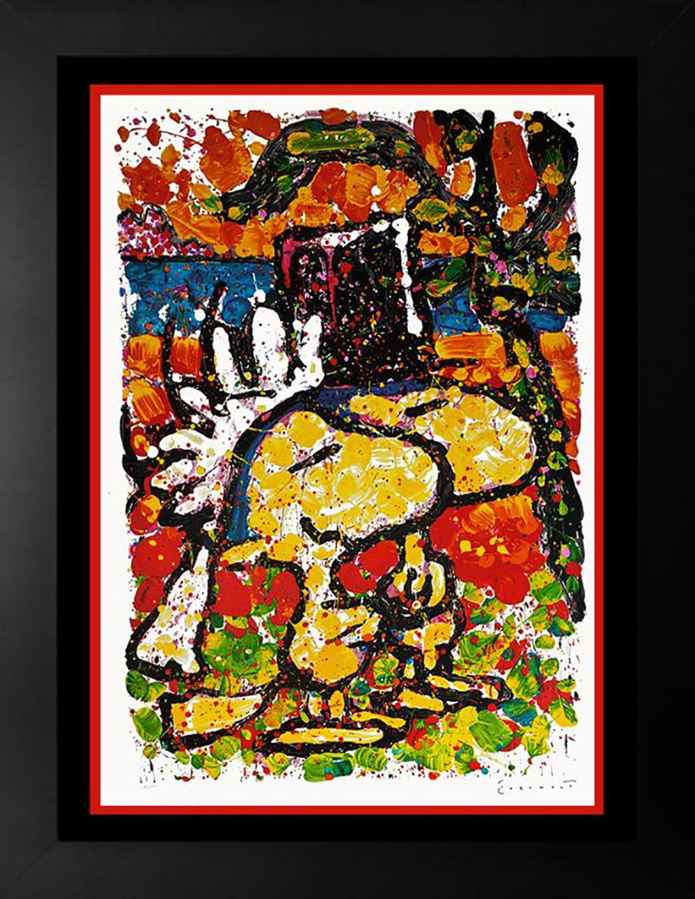 Original Lithograph by Tom Everhart Snoopy Hitched Limited Edition