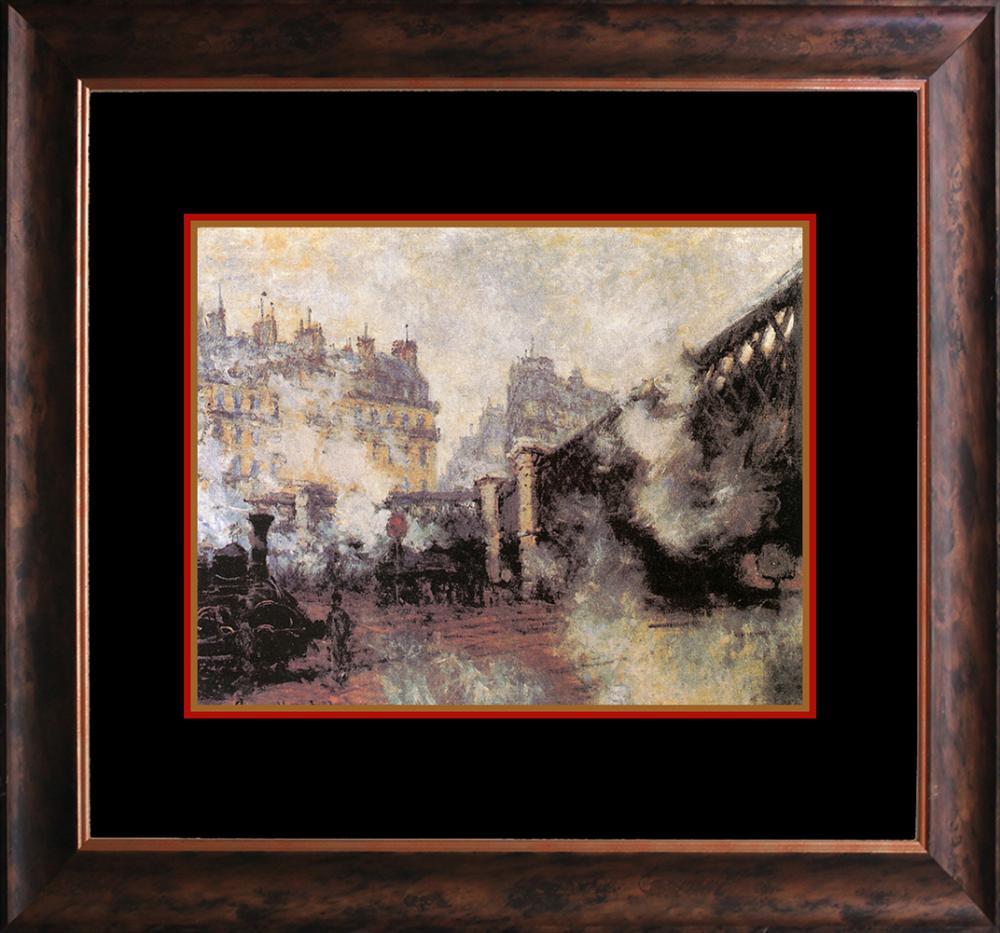 Claude Monet Embellished Canvas