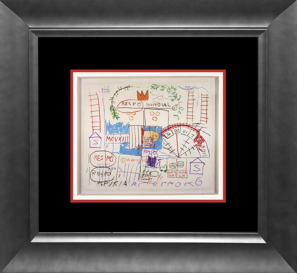 Lot 2749: Jean Michel Basquiat Lithograph from 1981